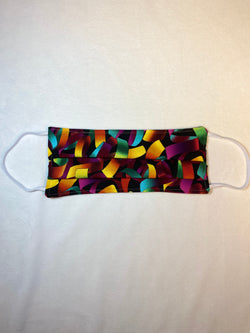 Mardi Gras - Pre-Made Handmade Cotton Reusable Face-Mask