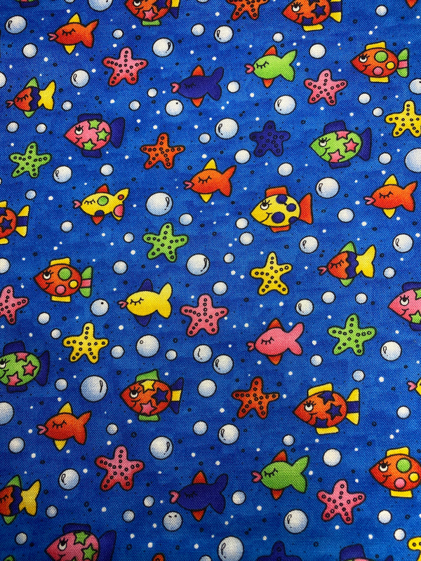 Under The Sea - Handmade Cotton Reusable Face-Mask