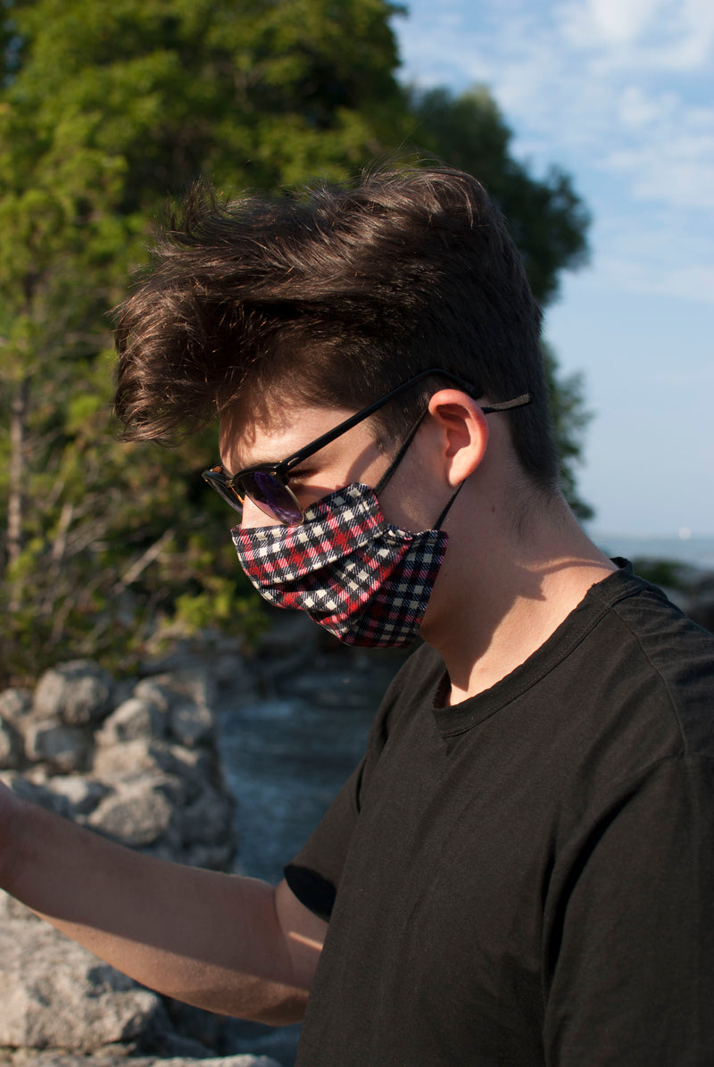 Black - Handmade Cotton Reusable Face-Mask