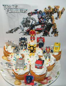 Stupendous Transformers Cake Toppers Set Of 12 With 10 Figures Vehicles Birthday Cards Printable Riciscafe Filternl