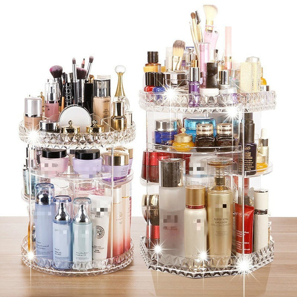 360° Rotating Crystal Cosmetic Storage (Box-Free shipping)