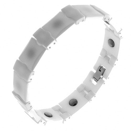 White Ceramic Magnetic Bracelet