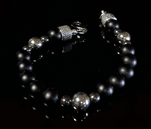 LUX MARCAVI DEEP NOIR BRACELET - Men of Zen