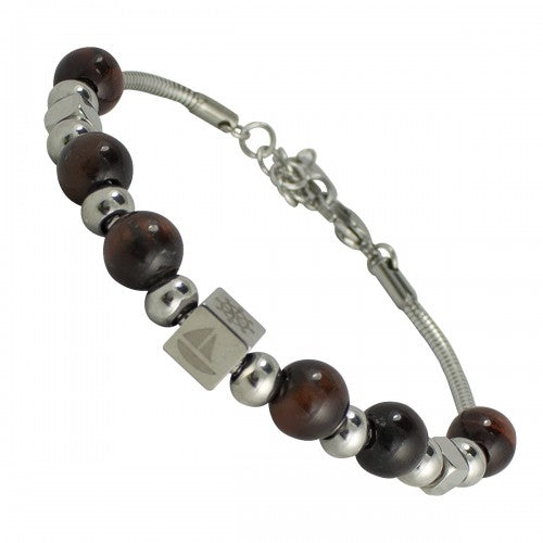 Yacht Voyage Bead Bracelet with Nautical Charm - Men of Zen
