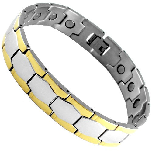 Stainless Steel Magnetic Bracelet Hex