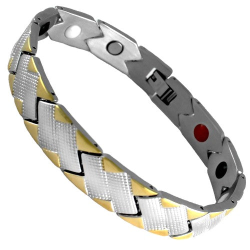 Stainless Steel Magnetic Bracelet Two Tone
