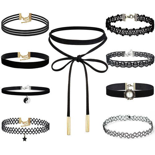 9 Pieces Choker Necklace