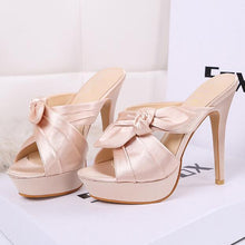Load image into Gallery viewer, Butterfly-knot Women Thin Heels  WXG517