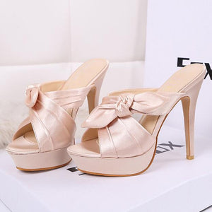 Butterfly-knot Women Thin Heels  WXG517