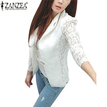 Load image into Gallery viewer, Zanzea 2018 Fashion Coat Sexy Sheer Lace Blazer Suit Outwear Women OL Formal Long Sleeve Slim Casual Jackets Plus Size S-3XL