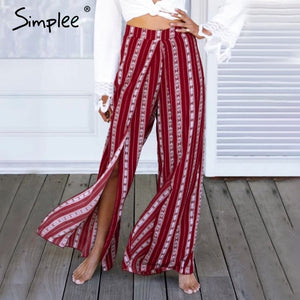 Split  casual  Loose wide leg pants women