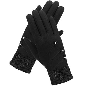 Women Touch Fleece Gloves