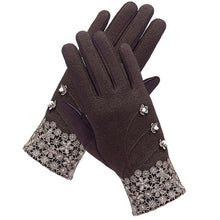 Load image into Gallery viewer, Women Touch Fleece Gloves