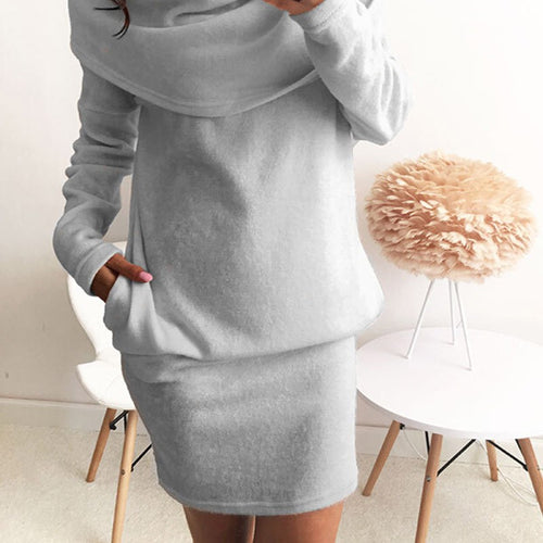 Sexy Womens  Long Sleeve Sweater Dress