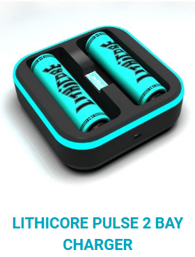 Lithicore Pulse 2 Bay Charger