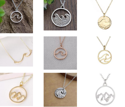 Wave Necklaces (Multiple Designs & Colors to choose from)