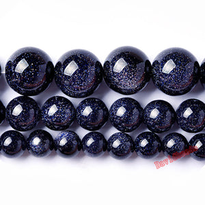 Natural Blue SandStone Beads 4 6 8 10 12MM
