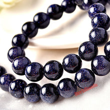 Load image into Gallery viewer, Natural Blue SandStone Beads 4 6 8 10 12MM