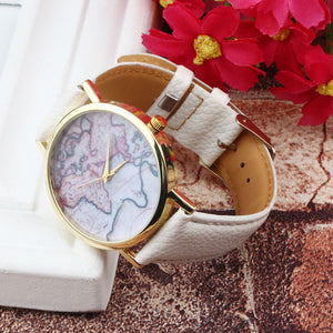 Men / Women Vintage Earth World Map Watch