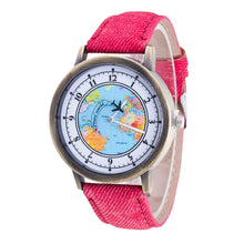 Load image into Gallery viewer, Men / Women's World Map Analog Wrist Watch