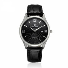 Load image into Gallery viewer, Men's Date Stainless Steel/Leather Watch
