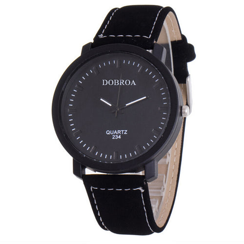 Men's Simple Leather Strap Watch