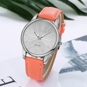 Women's Fashion Leather Band Analog Wrist Watch