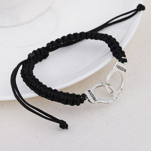 Braided Handcuff Bracelet