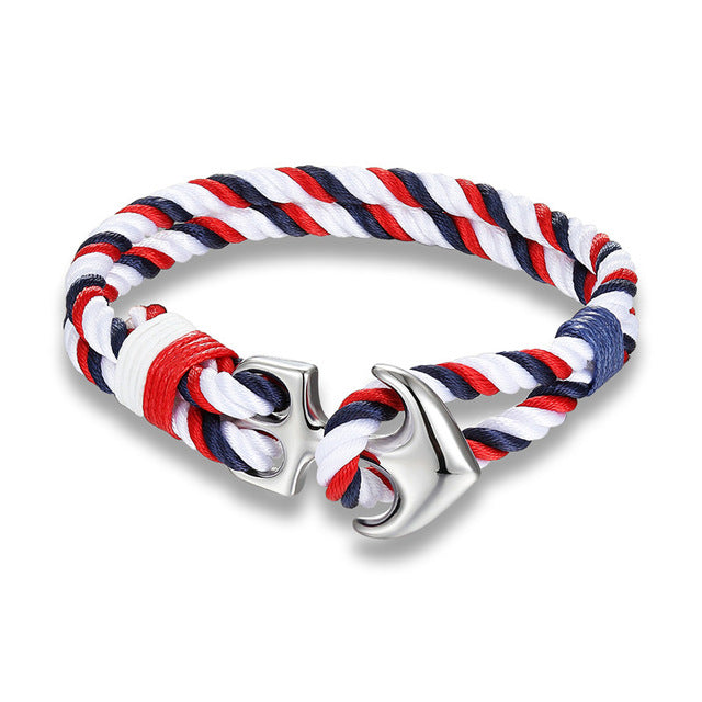 Anchor Nautical Rope Bracelet