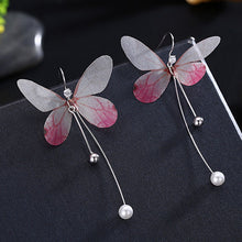 Load image into Gallery viewer, Butterfly Pearl Earrings