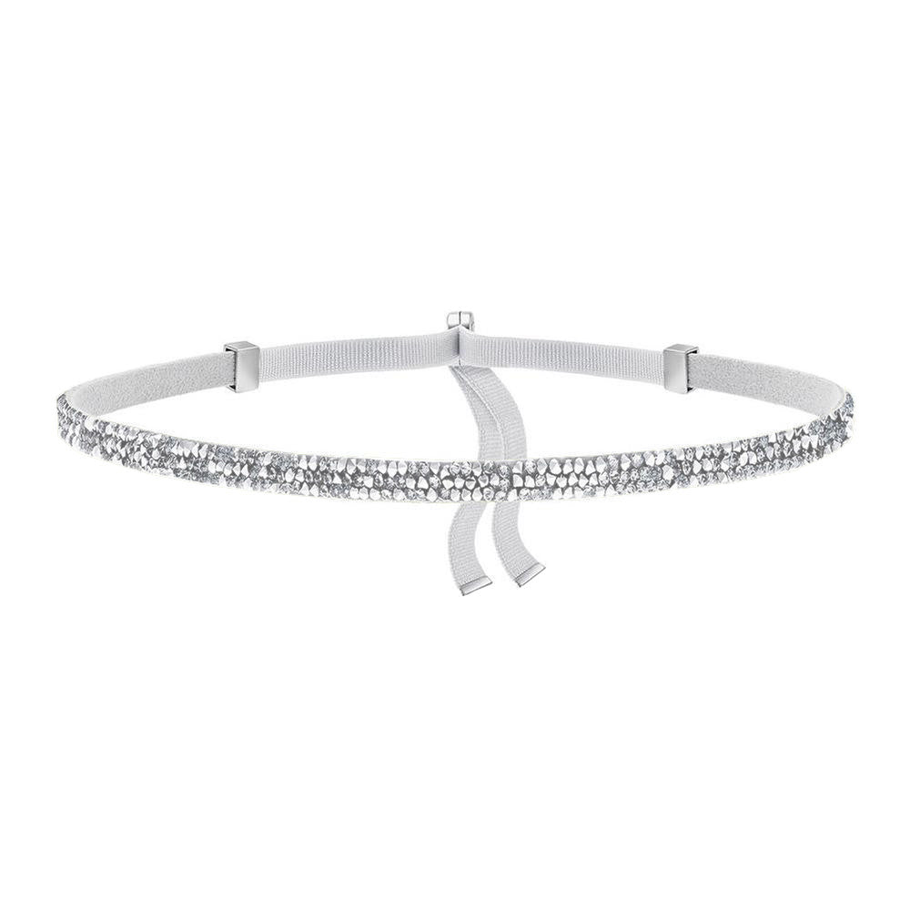 Choker Necklace with Swarovski Crystals - White