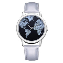 Load image into Gallery viewer, Men / Women's World Map Black Face Watch