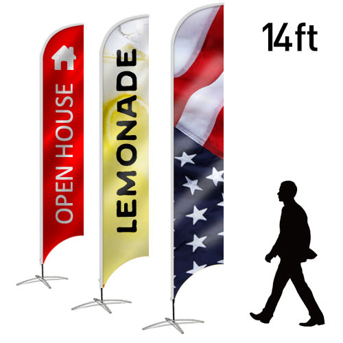 Design Your Own Blade Flag, 14ft - Lumbini Graphics