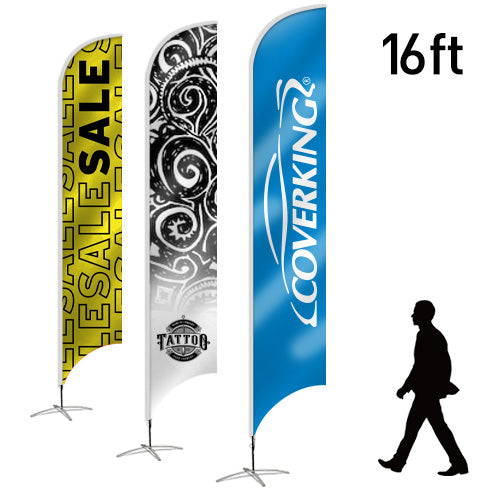 Design Your Own Blade Flag, 16ft - Lumbini Graphics