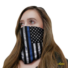 Load image into Gallery viewer, Police Blue Lives Neck Gaiter