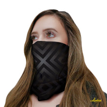 Load image into Gallery viewer, Black Geo Neck Gaiter