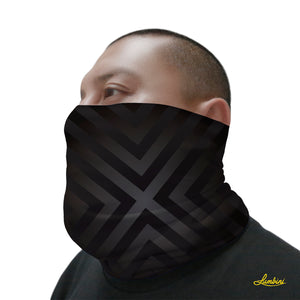 Black Geo Neck Gaiter