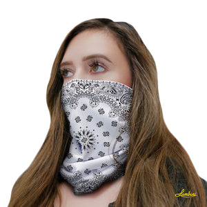 White Bandana Neck Gaiter