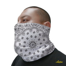 Load image into Gallery viewer, White Bandana Neck Gaiter