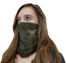 Load image into Gallery viewer, Camo Skull Neck Gaiter
