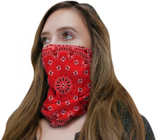 Load image into Gallery viewer, Red Bandana Neck Gaiter
