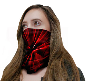 Red Vortex Neck Gaiter