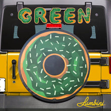 Load image into Gallery viewer, Green Donut Funny Custom Spare Tire Cover