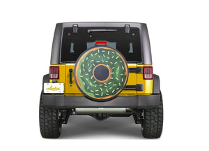 Green Donut Funny Custom Spare Tire Cover