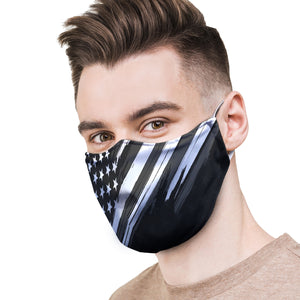 American Flag Black / White Protective Reusable Face Mask