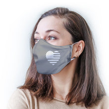 Load image into Gallery viewer, Gray Heart Flag Protective Reusable Face Mask