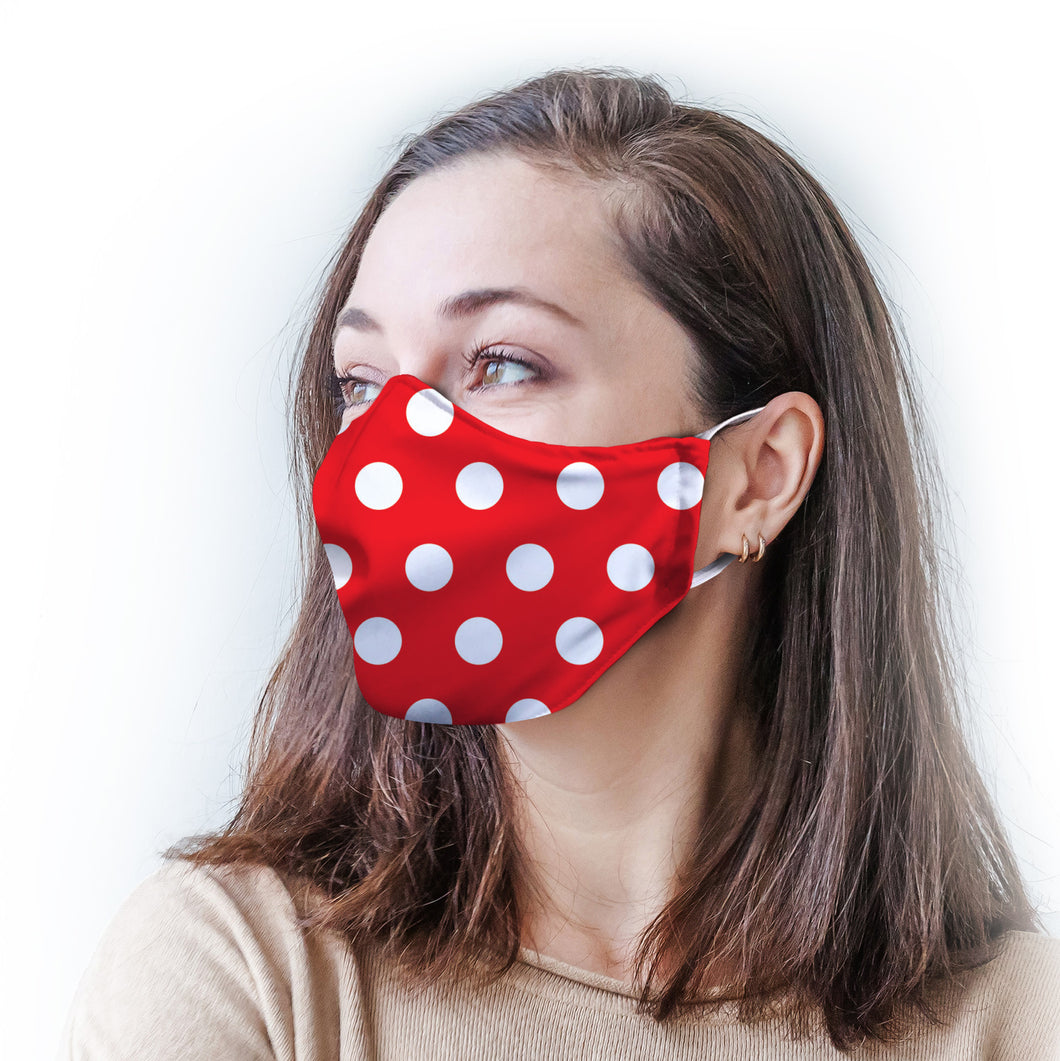 Polka Dot Protective Reusable Face Mask