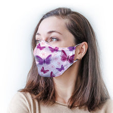 Load image into Gallery viewer, Pink Butterflies Protective Reusable Face Mask