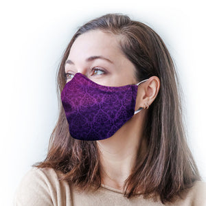 Purple Ombre Protective Reusable Face Mask