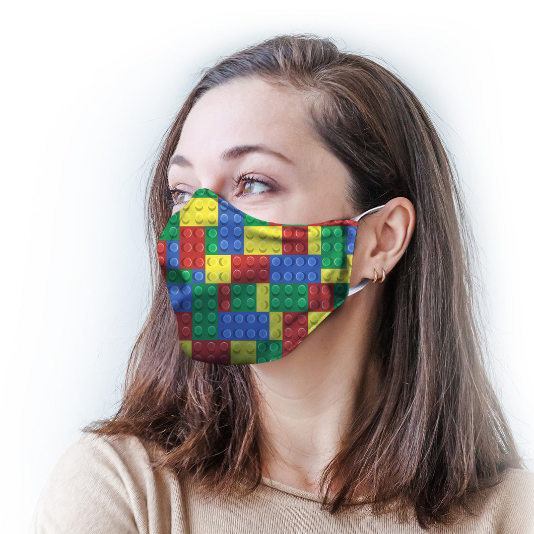 Color Blocks Protective Reusable Face Mask